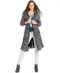Free People Long-Sleeve Marled-Knit Cardigan - Sweaters - Women - Macys at Macys
