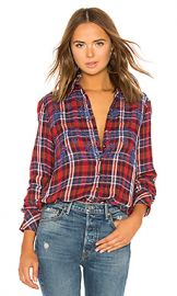 Free People Magical Plaid Button Down in Red from Revolve com at Revolve