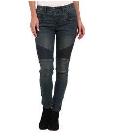 Free People Mid Rise Moto Jean Imperial Blue at Zappos