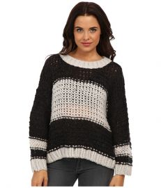 Free People Monaco Pullover Sweater Charcoal Combo at 6pm