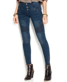 Free People Moto Skinny Jeans Moonlight Wash - Jeans - Women - Macys at Macys