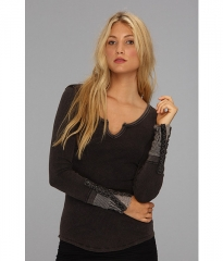 Free People Newbie Thermal Kyoto Cuff Black at 6pm