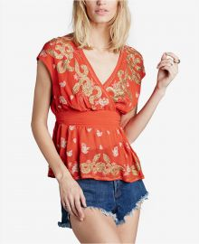 Free People Ooh La La Embellished Top in Red at Macys