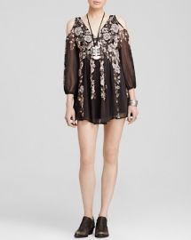 Free People Penny Lover Cold Shoulder Mini Dress at Bloomingdales