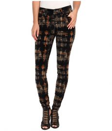 Free People Plaid Hi Rise Cord Night Combo at 6pm