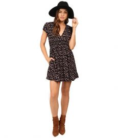 Free People Pretty Baby Mini Dress Black Combo at Zappos