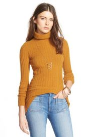 Free People Ribbed Turtleneck Sweater at Nordstrom