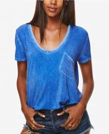 Free People Rising Sun Scoop-Neck T-Shirt sapphire at Macys