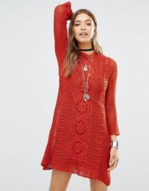 Free People Rosalind Swit Dress In Crochet at asos com at Asos