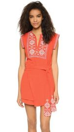 Free People Running Wild Embroidered Mini Dress at Shopbop