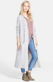 Free People Santa Cruz Long Cardigan in Grey at Nordstrom