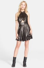 Free People Sequin Stripe Minidress at Nordstrom