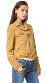 Free People Shrunken Jean Jacket in Honey at Shopbop