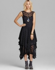 Free People Slip Dress - Stretch Lace French Court at Bloomingdales