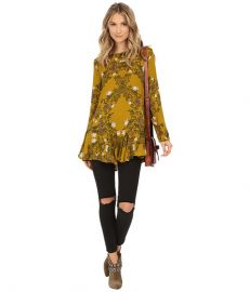 Free People Slubby Crinkle Smooth Talker Top Gold Combo at Zappos