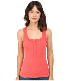 Free People Time Out Tank Top Coral at Zappos