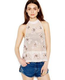 Free People Toosaloosa Beaded Mesh-Illusion Frankie Blouse at Macys