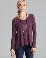 Free People Top - Belgian Waffle Thermal Rockability at Bloomingdales