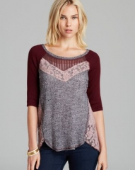 Free People Top - Mix It Up Hacci at Bloomingdales