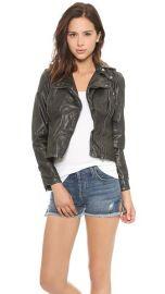 Free People Vegan Leather Hooded Moto Jacket at Shopbop