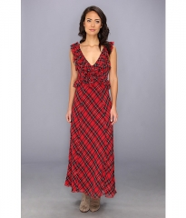 Free People Viscose Crinkle Venitia Dress Scarlet Combo at 6pm