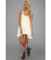 Free People Voile Trapeze Slip White Combo at Zappos