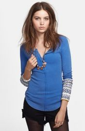Free People and39Alpine Cuffand39 Knit Cuff Henley at Nordstrom
