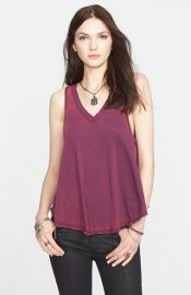 Free People and39Breezyand39 Seam Detail Slub Knit Tank in Purple at Nordstrom