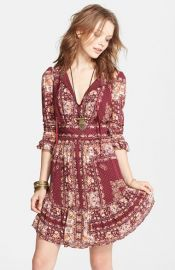 Free People and39Bridgetteand39 Print Ruffle Hem Dress at Nordstrom