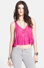 Free People and39Crinkle Breezeand39 Ruffled Crop Camisole at Nordstrom