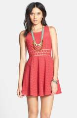 Free People and39Daisyand39 Lace Fit andamp Flare Dress at Nordstrom