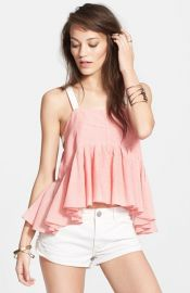 Free People and39Lolaand39sand39 Stripe Peplum Tank at Nordstrom