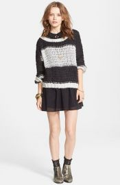 Free People and39Monacoand39 Knit Pullover in charcoal at Nordstrom