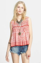 Free People and39Mynaand39 Print Split Back Tank at Nordstrom