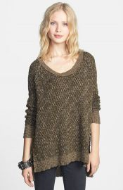 Free People and39Po Jeepsterand39 HighLow Sweater at Nordstrom