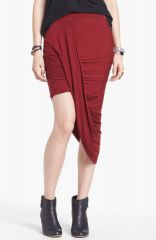 Free People and39Twist and Shoutand39 Draped Skirt in red at Nordstrom