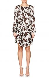 Freja Palm-Leaf-Print Silk Dress by ALC at Barneys