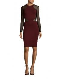 French Connection - Viven Net Panel Sheath Dress at Saks Off 5th