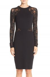 French Connection  Viven  Lace Long Sleeve Sheath Dress at Nordstrom