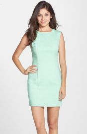 French Connection Cotton Blend Sleeveless Body-Con Dress at Nordstrom