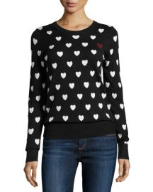 French Connection Heart Print Sweater at Last Call