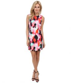 French Connection Miami Graffiti Dress 71DBM Keywest Coral Multi at Zappos