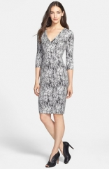 French Connection Misty Fern Print Sheath Dress at Nordstrom