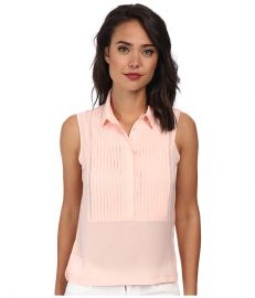 French Connection Polly Plains Top 6DBI Deco Blush at 6pm