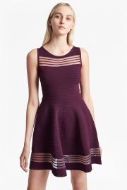 French Connection Tobey Crepe Knit Mini skater dress  at French Connection