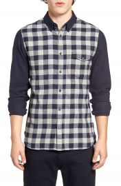 French Connection Trim Fit Pop Flannel Sport Shirt at Nordstrom