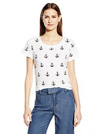 French Connection Women s All Over Anchor T-Shirt at Amazon