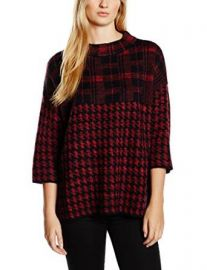 French Connection Womenand39s Houndstooth and Check Knit Sweater at Amazon