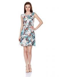 French Connection Womenand39s Isla Ripple Printed A-Line Dress at Amazon