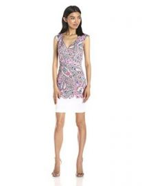 French Connection Womenand39s Sundown Border Printed Dress  Amazoncom at Amazon